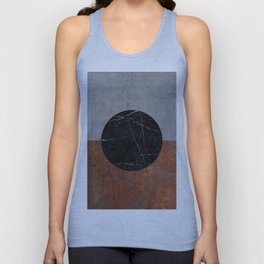 Abstract - Marble, Concrete, Rusted Iron Unisex Tank Top