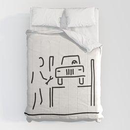 vehicle mechanic car Comforters