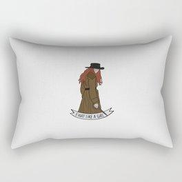 Fight like Anne Bonny Rectangular Pillow