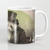 panda Mugs featuring Proper Panda by Chase Kunz