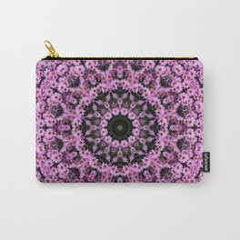 Kaleidoscope of purple flowers D Carry-All Pouch