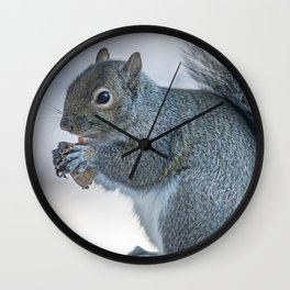 Winter squirrel Wall Clock