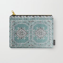 Traditional rug in denim blue Carry-All Pouch