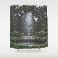 rio de janeiro Shower Curtains featuring Parque Laje - Rio de Janeiro by Edgard Mello
