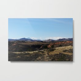 Horsetooth Trail Rocky Mountains Fort Collins Colorado Color Photo Metal Print