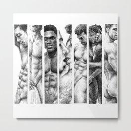 NOODDOOD Strips 1-7 Metal Print