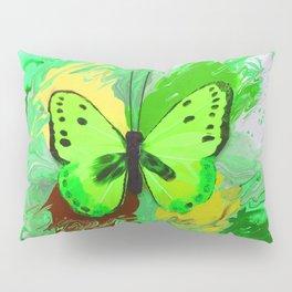 Neon Green Butterfly Pillow Sham