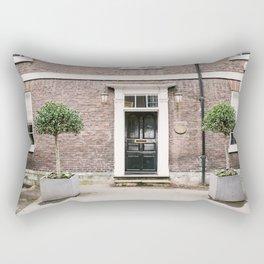 Black door in Knutsford Rectangular Pillow