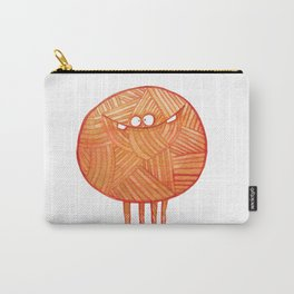 Poofy Orange Yarn Carry-All Pouch