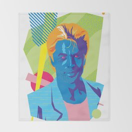 SONNY :: Memphis Design :: Miami Vice Series Throw Blanket