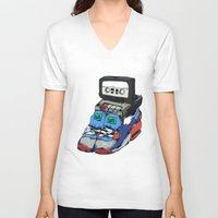 random V-neck T-shirts featuring Random by happytunacreative