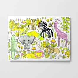 African Animals Metal Print