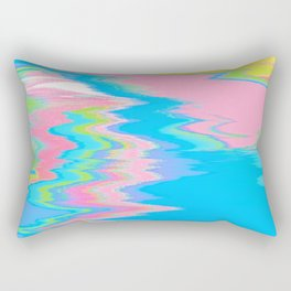 Neon Spill Abstract Rectangular Pillow