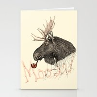 moose Stationery Cards featuring moose by dogooder