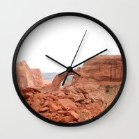 utah Wall Clocks featuring Utah by prism POP