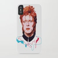 bowie iPhone & iPod Cases featuring Bowie by Anna McKay