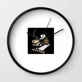Coffee & Poop Homies Wall Clock