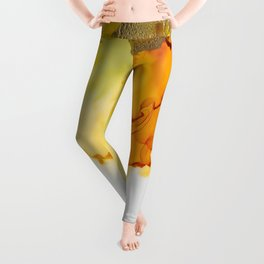 Gold Abstract 1 Leggings