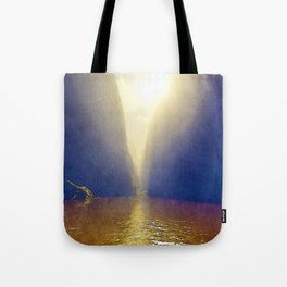Sunshine Over Muddy River Tote Bag