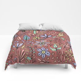 Flowers and Leaves Pattern Comforters