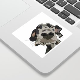 Great Dane dog in your face Sticker