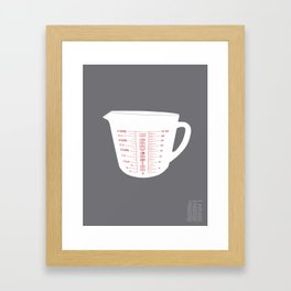 Imperial Measuring Cup Conversion Framed Art Print