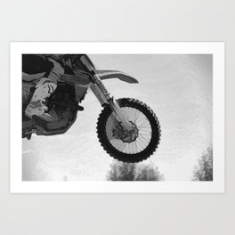 Motocross Dirt-Bike Racer Art Print