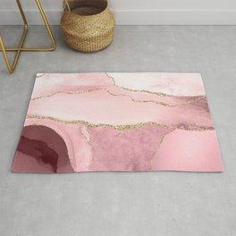 Blush Marble Art Landscape Rug