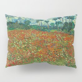 Vincent Van Gogh Poppy Field Pillow Sham