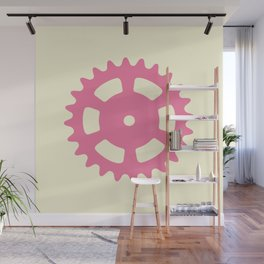 Cog and Roll (pastel) Wall Mural