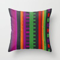 mexican Throw Pillows featuring Mexican Pattern by rusanovska