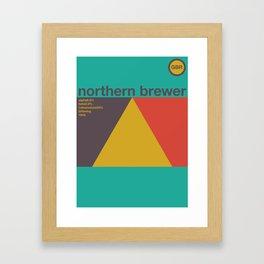northern brewer single hop Framed Art Print