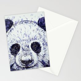 PANDA watercolor and ink portrait Stationery Cards