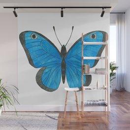 Morpho Butterfly Illustration Wall Mural