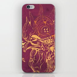 El Briguento - The Fighter (Golden) iPhone Skin