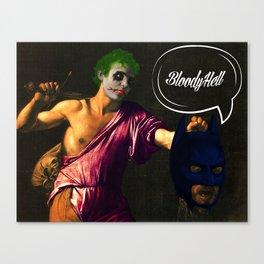 DEFEAT THE HERO Canvas Print