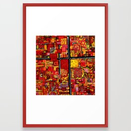 Ketchup and Mustard Framed Art Print