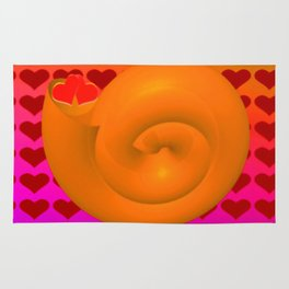A snail shell for two ... Rug