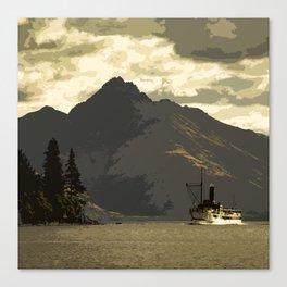 Earslaw Ferry on Lake Wakatipu in Queenstown, New Zealand Canvas Print