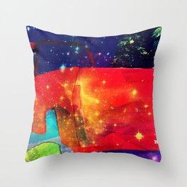 Starry Truck Throw Pillow