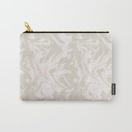 Beige marble pattern Carry-All Pouch