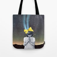 new year Tote Bags featuring NEW YEAR by Beth Hoeckel