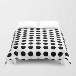 Simply Polka Dots in Midnight Black Duvet Cover