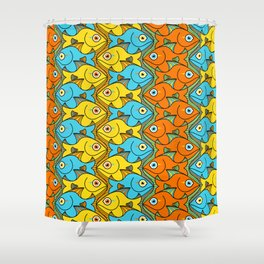 Something is Nicely Fishy Here! Shower Curtain