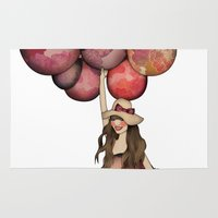 ballon Area & Throw Rugs featuring Le Ballon // Birthday IV by annabours