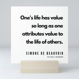 4      Simone De Beauvoir Quotes   190605 Mini Art Print