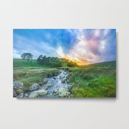 Sunset summer in Wicklow Mountains Metal Print