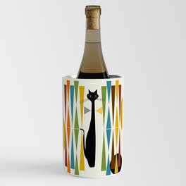 Mid-Century Modern Art Cat 2 Wine Chiller
