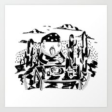 Cactus lunch Art Print