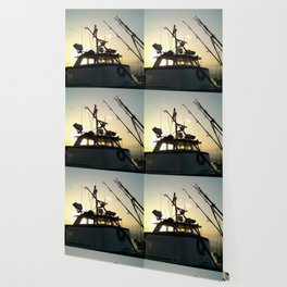 Fishing At Dawn Wallpaper